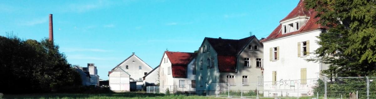 ERBA-Gelände mit Bauplätzen